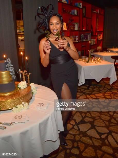 Marlo Hampton attends Her Birthday Dinner Celebration at Kaisers Restaurant on February 3 2018 in Sandy Springs Georgia