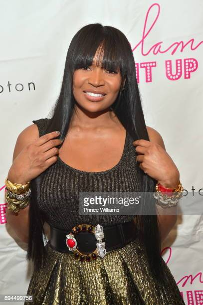 Marlo Hampton attends her foster care nonprofit charity lunch at Old Lady Gang on December 17 2017 in Atlanta Georgia