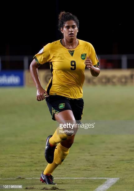 Edinburg NC OCTOBER Marlo Sweatman of Jamaica During CONCACAF Women's Championship Group B match between Cuba against Jamaica at HEBPark Stadium...