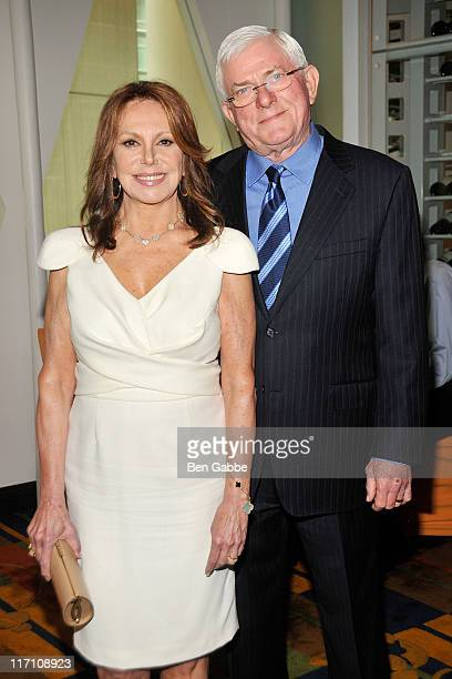 Marlo Thomas and Phil Donahue attend the 2011 Jefferson Awards for Public Service at Le Cirque on June 22 2011 in New York City