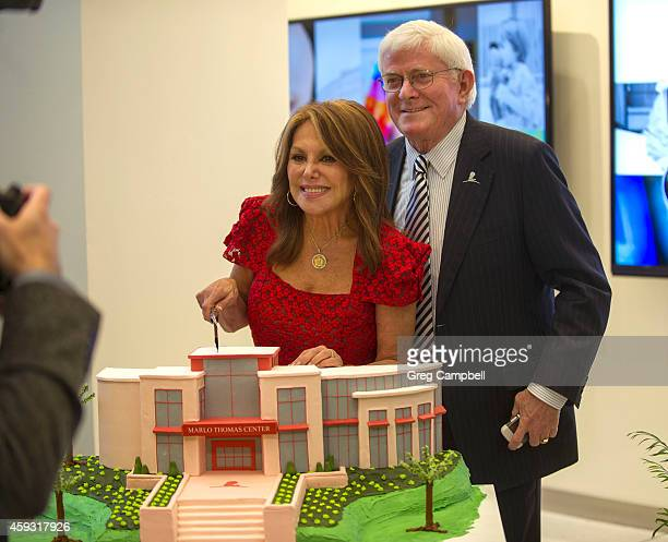 Marlo Thomas and Phil Donahue celebrate Marlo Thomas' birthday a day early at the dedication of The Marlo Thomas Center For Global Education...
