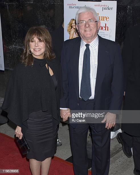 Marlo Thomas and Phil Donahue during Failure to Launch New York City Premiere at Clearview Chelsea West Theatre in New York CIty New York United...