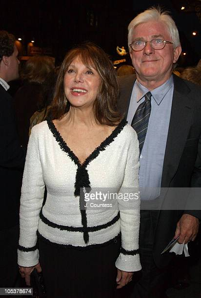 Marlo Thomas and Phil Donahue during Opening Night of Sly Fox on Broadway Arrivals at Ethel Barrymore Theatre in New York City New York United States