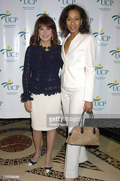 Marlo Thomas and Tamara Tunie during United Cerebral Palsy Fourth Annual 'Women Who Care' Luncheon at Ciprianis 42nd Street in New York City New York...