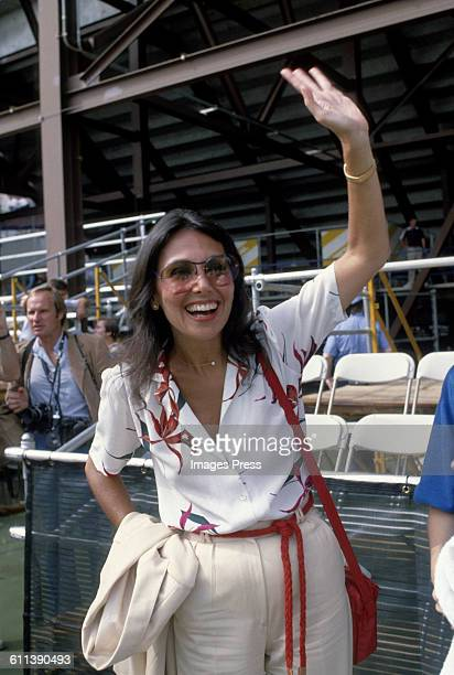 Marlo Thomas at the Forest Hills Tennis Stadium circa 1979 in Forest Hills Queens