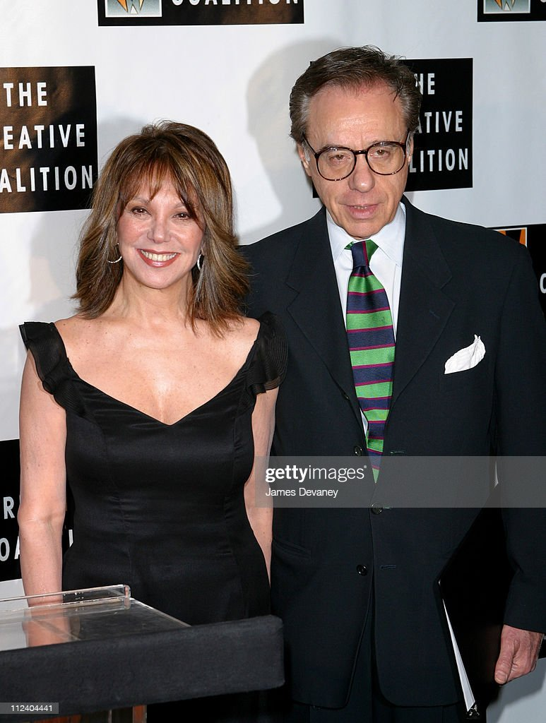 Marlo Thomas & Peter Bogdanovich during Creative Coalition's 'Seconding the First' Gala Benefit Concert at Hammerstein Ballroom in New York City, New York, United States.