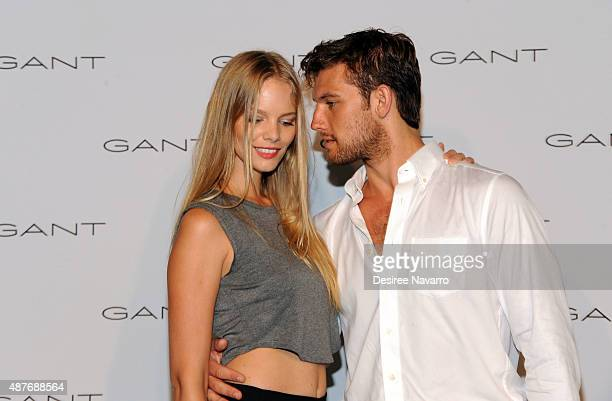 Marloes Horst and Alex Pettyfer attend House of Gant Presentation Spring 2016 New York Fashion Week on September 10 2015 in New York City