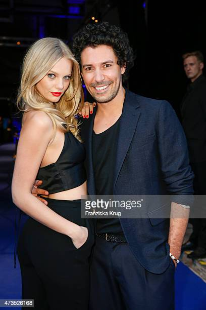 Marloes Horst and Boris Entrup attend the Maybelline 100th anniversary celebrations on May 15 2015 in Berlin Germany