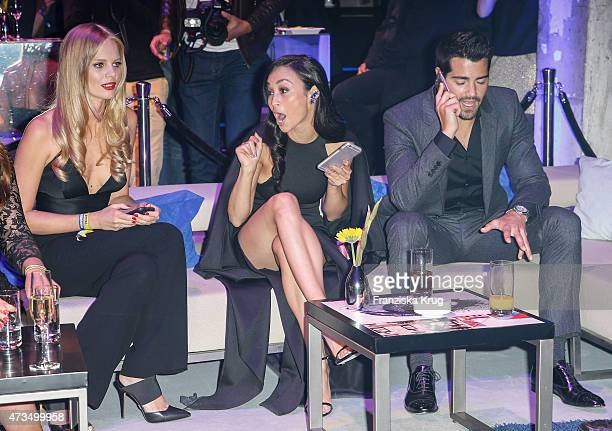 Marloes Horst Cara Santana and Jesse Metcalfe attend the Maybelline 100th anniversary celebrations on May 15 2015 in Berlin Germany