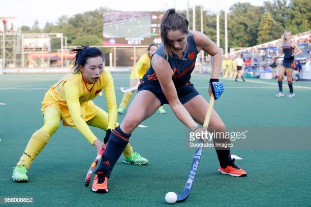 Marloes Keetels of Holland Women during the Rabobank 4Nations trophy match between Holland v China at the Hockeyclub Breda on June 27 2018 in Breda...