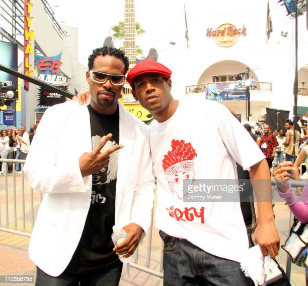 Marlon and Shawn Wayans during 106 and Park featuring Lil John Shawn and Marlon Wayans Anthony Hamilton at Live from LA in Los Angeles California...