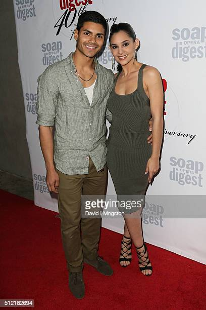 Marlon Aquino and Camila Banus arrive at the 40th Anniversary of the Soap Opera Digest at The Argyle on February 24 2016 in Hollywood California