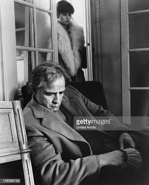 Marlon Brando and Maria Schneider in a scene from 'Last Tango In Paris' directed by Bernardo Bertolucci Paris 1972