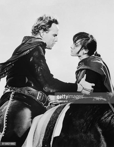 Marlon Brando and Pina Pellicer in a scene from the movie OneEyed Jacks