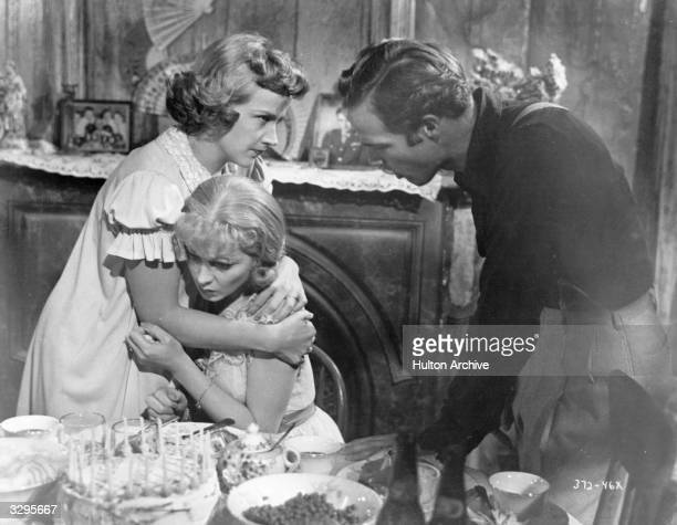 Marlon Brando and Vivien Leigh in a scene from 'A Streetcar Named Desire', adapted from the play by Tennessee Williams, with Kim Hunter . The film...