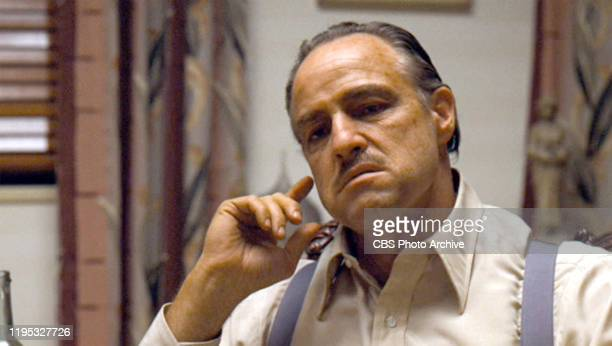 Marlon Brando as Vito Corleone in 'The Godfather ' the movie based on the novel by Mario Puzo and directed by Francis Ford Coppola Initial theatrical...