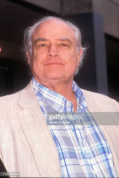 Marlon Brando outside the Los Angeles County Courthouse during his son Christian Brando's murder trial in 1990 Los Angeles California 7/2/04