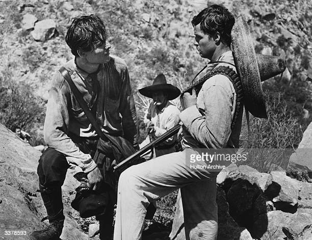 Marlon Brando starring as Mexican folk hero Emiliano Zapata in 'Viva Zapata' directed by Elia Kazan for 20th Century Fox and written by John...