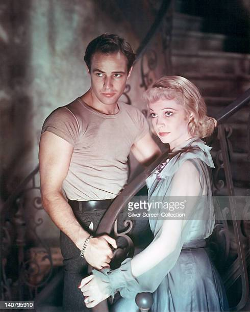Marlon Brando US actor and Vivien Leigh British actress in a publicity still issued for the film 'A Streetcar Named Desire' 1951 The drama adapted...