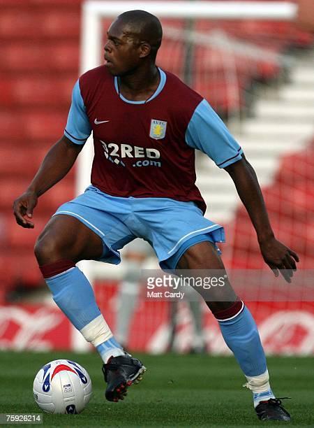 Marlon Harewood of Aston Villa during the pre season friendly match between Stoke and Aston Villa at the Britannia Stadium on August 1 2007 in Stoke...