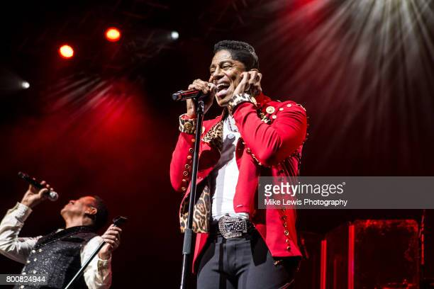 Marlon Jackson and Jermaine Jackson of The Jacksons performs at Motorpoint Arena on June 25 2017 in Cardiff Wales