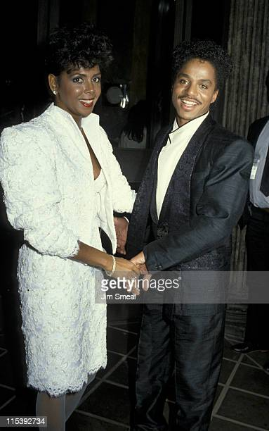 Marlon Jackson and wife during Marlon Jackson At Le Dome Restaurant at Le Dome Restaurant in West Hollywood California United States