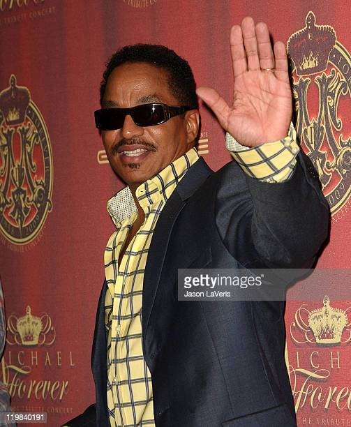 Marlon Jackson attends the Jackson Family press conference at Beverly Hills Hotel on July 25 2011 in Beverly Hills California