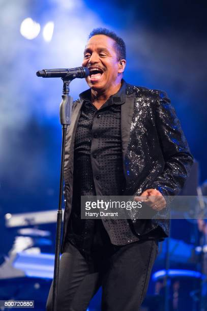 Marlon Jackson from The Jacksons performs on the West Holts Stage on day 3 of the Glastonbury Festival 2017 at Worthy Farm Pilton on June 24 2017 in...