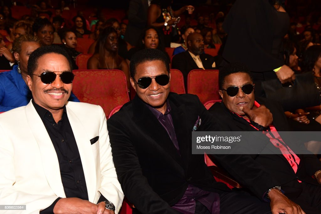 Marlon Jackson, Jackie Jackson and Tito Jackson of The Jacksons attend the 2017 Black Music Honors at Tennessee Performing Arts Center on August 18, 2017 in Nashville, Tennessee.
