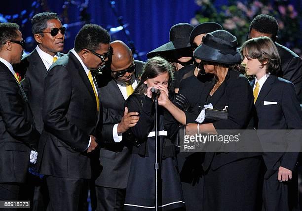 Marlon Jackson Jermaine Jackson Tito Jackson Randy Jackson Paris Katherine Jackson La Toya Jackson Janet Jackson Rebbie Jackson Prince Michael...