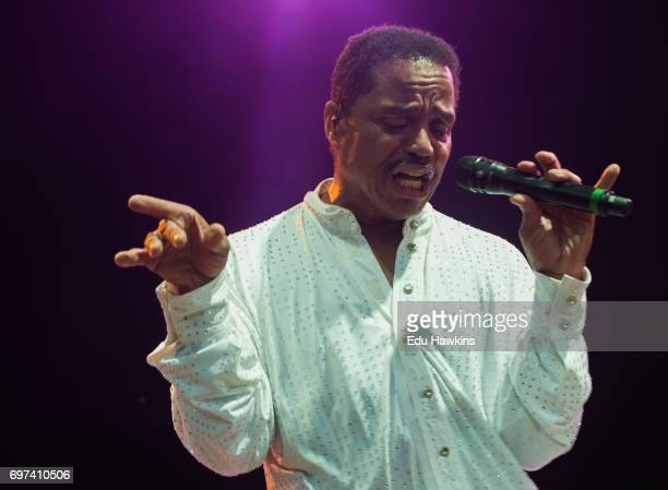 Marlon Jackson of the The Jacksons perform live on stage at Blenheim Palace on June 18 2017 in Woodstock England