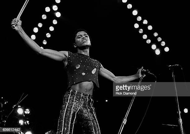 Marlon Jackson performs during The Jacksons Triumph Tour at The Omni Coliseum in Atlanta Georgia July 22, 1981
