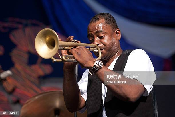 Marlon Jordan performs during the 2014 New Orleans Jazz & Heritage Festival at Fair Grounds Race Course on May 2, 2014 in New Orleans, Louisiana.