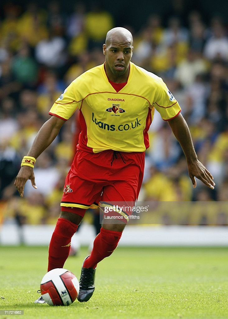 Marlon King of Watford during the Barclays Premiership match between Watford and Manchester United at Vicarage Road on August 26, 2006 in Watford, England.