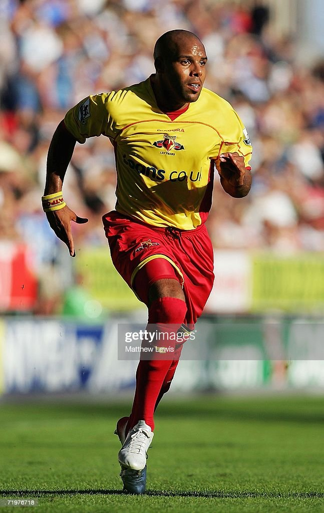 Marlon King of Watford in action during the Barclays Premiership match between Wigan Athletic and Watford at the JJB Stadium on September 23, 2006 in Wigan, England.