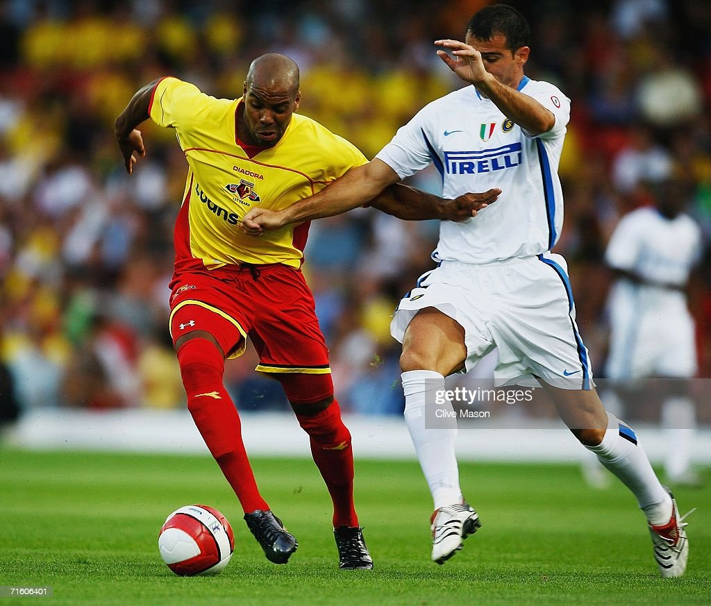 Marlon King of Watford on the attack during the friendly match between Watford and Inter Milan at Vicarage Road on August 8, 2006, in Watford, England.