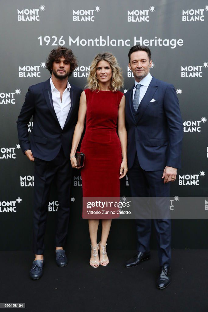 Marlon Luiz Teixeira, Alice Taglioni and Hugh Jackman attend the '1926 Montblanc Heritage Launch event' on June 14, 2017 in Florence, Italy.