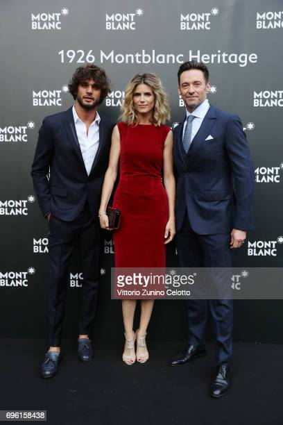 Marlon Luiz Teixeira Alice Taglioni and Hugh Jackman attend the '1926 Montblanc Heritage Launch event' on June 14 2017 in Florence Italy