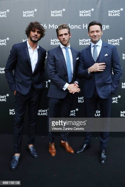 Marlon Luiz Teixeira Ben Dahlhaus and Hugh Jackman attend '1926 Montblanc Heritage Launch event' on June 14 2017 in Florence Italy