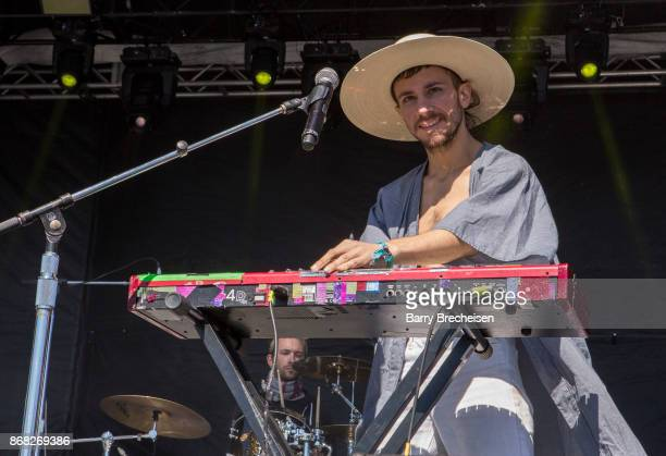 Marlon Magnee of La Femme performs during Voodoo Music Arts Experience at City Park on October 29 2017 in New Orleans Louisiana