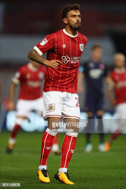 Marlon Pack of Bristol City during the pre season match between Bristol City and FC Twente at Ashton Gate on July 28 2017 in Bristol England