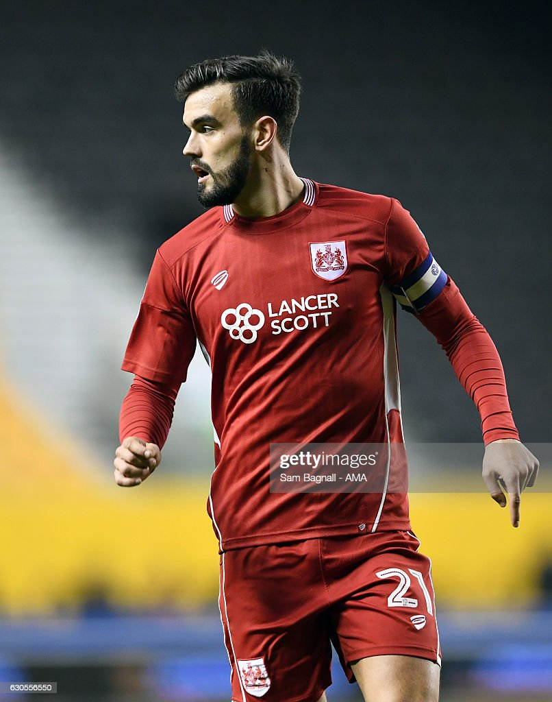 Marlon Pack of Bristol City during the Sky Bet Championship match between Wolverhampton Wanderers and Bristol City at Molineux on December 26, 2016 in Wolverhampton, England.