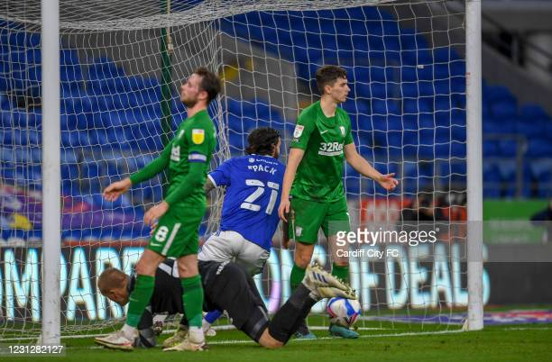 Marlon Pack of Cardiff City FC during the Sky Bet Championship match between Cardiff City and Preston North End at Cardiff City Stadium on February...