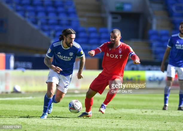 Marlon Pack of Cardiff City FC during the Sky Bet Championship match between Cardiff City and Nottingham Forest at Cardiff City Stadium on April 2,...