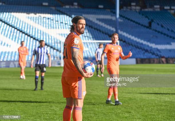 Marlon Pack of Cardiff City FC during the Sky Bet Championship match between Sheffield Wednesday and Cardiff City at Hillsborough Stadium on April 5,...