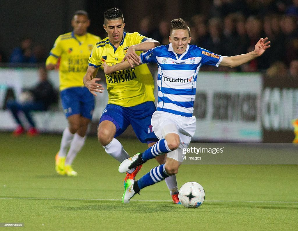 Marlon Pereira Of Sc Cambuur Ryan Thomas Of Pec Zwolle During The News Photo Getty Images