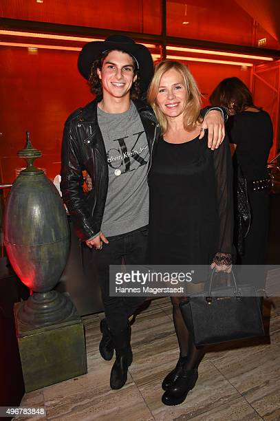 Marlon Peter and his mother Carola Peter during the 'Marcel Ostertag Charity Fashion Show 2015' at Sofitel Munich Bayerpost on November 11 2015 in...