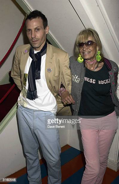 Marlon Richards and his mother Anita Pallenberg attend the opening of Mick Rock's designer fashion label in 'Zoltan' in Soho London on May 5 2003 The...