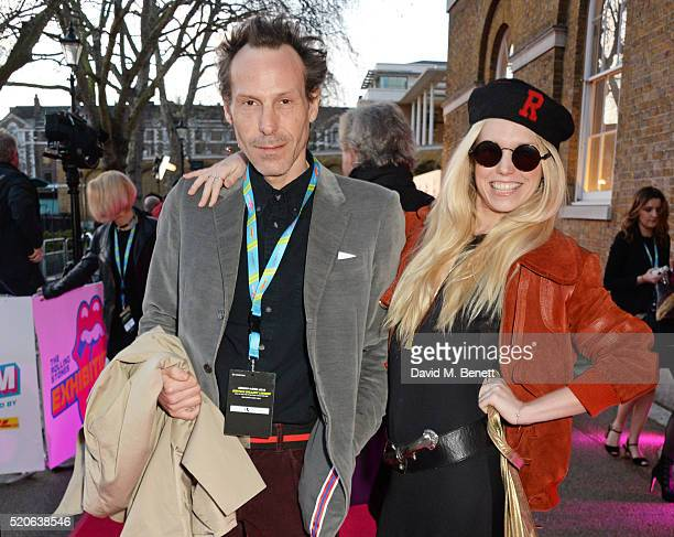 Marlon Richards and Theodora Richards attend a private view of 'The Rolling Stones Exhibitionism' at The Saatchi Gallery on April 4 2016 in London...