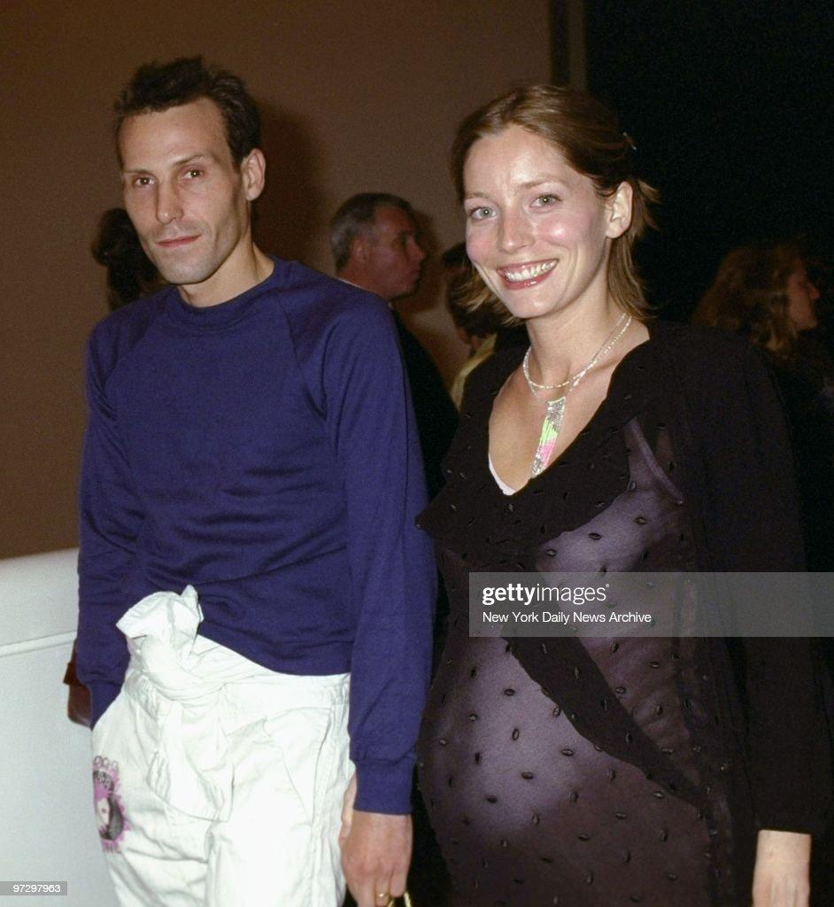 Marlon Richards and wife Lucie de la Falaise arrive for a Ph : News Photo